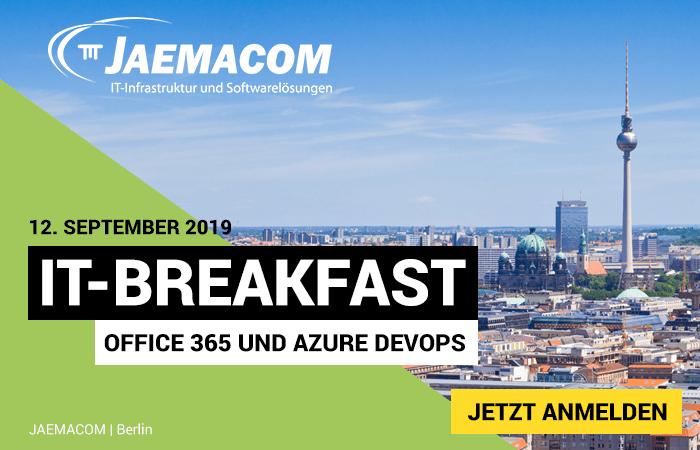 """IT-Breakfast:  Thema """"Software trifft Cloud, Office 365 und Azure DevOps in der Praxis"""""""