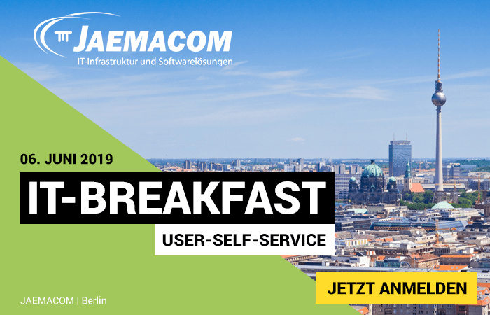 "IT-Breakfast: Thema ""User-Self-Services"""